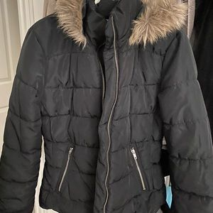 Black Quilted Puff Jacket NWOT